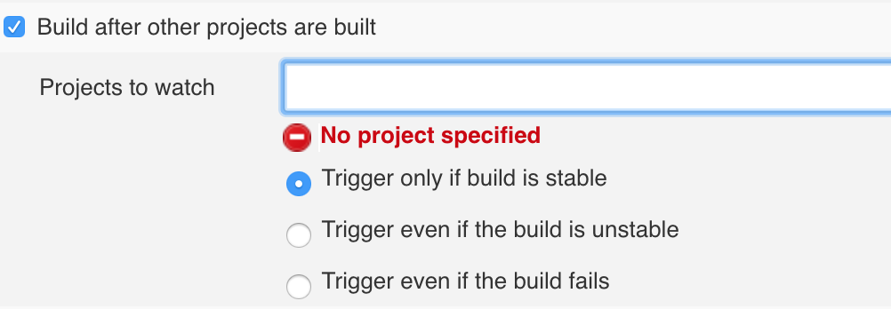 Build after other projects are built
